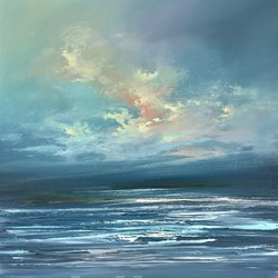 Blue Sky VI by Philip Raskin -  sized 20x20 inches. Available from Whitewall Galleries